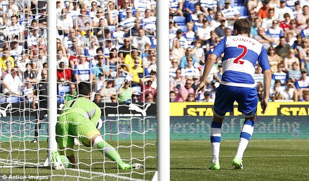 Fumble: Reading goalkeeper Adam Federici has made two mistakes in as many games in the Premier League