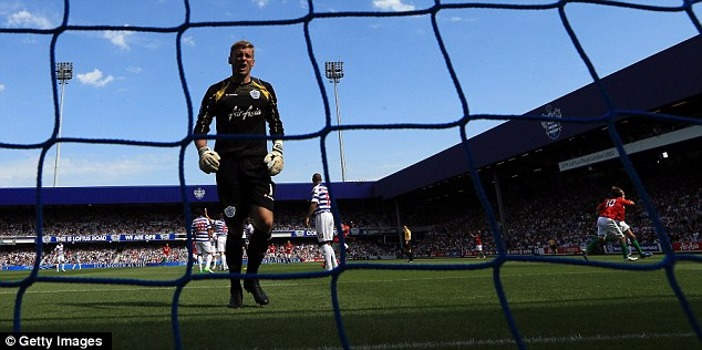 Costly: Robert Green's opening day mistake led to Swansea scoring the first of their five goals against QPR