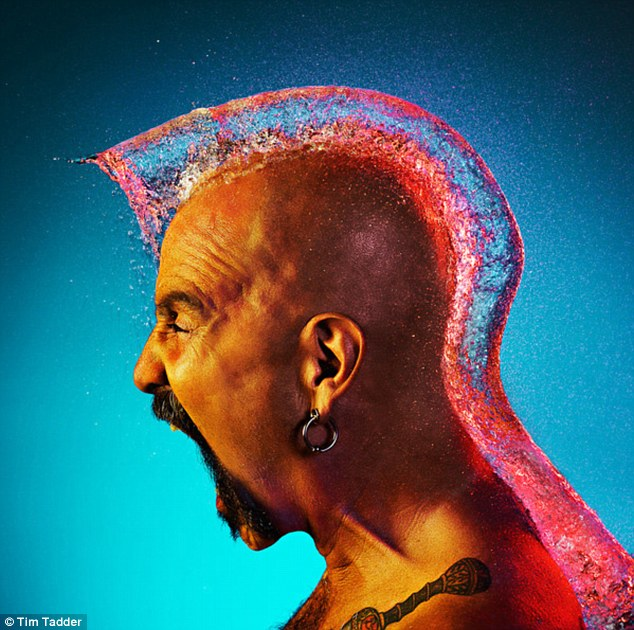'The Mohawk II': The recruiting of tattooed and charismatic bald men helped add to the humour of the photographic shoot