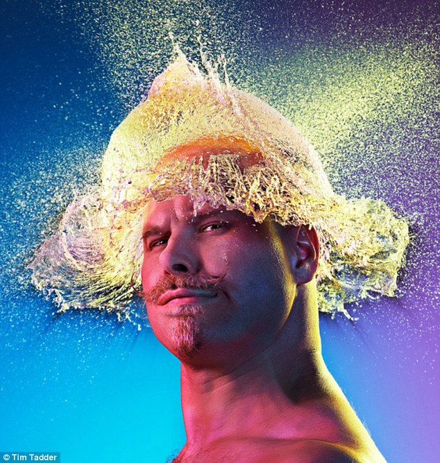 'The Conquistador': Tim Tadder found a group of charismatic bald men and hurled water balloons at their heads