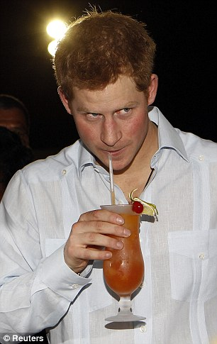 Party prince: Harry is a huge fan of the social networking site and appears under the pseudonym Spike Wells