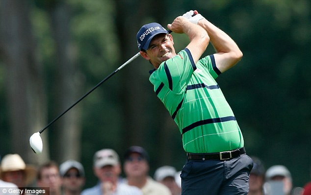 Disappointing day: Padraig Harrington struggled in his second round