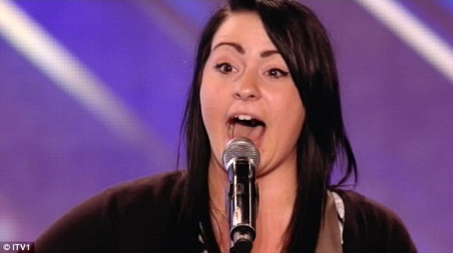 Humorous: Lucy Spraggan's witty lyrics and musical abilities left the judges speechless and the audience standing on their feet