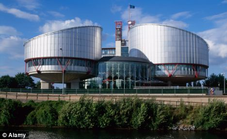 The European Court of Human Rights, Strasbourg, where officials have allowed the terrorists' applications to go ahead
