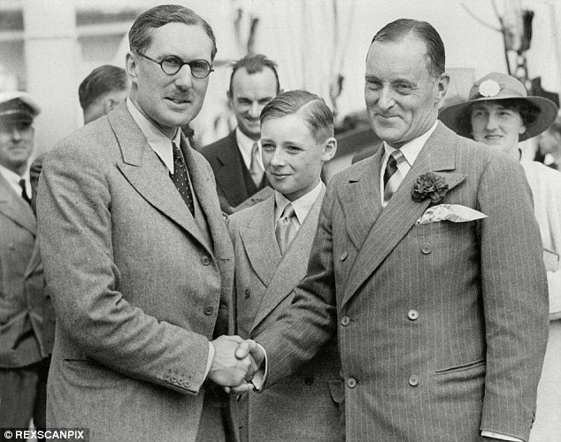 Racing pioneers: Sir Malcolm Campbell (right) with his son Donald Campbell