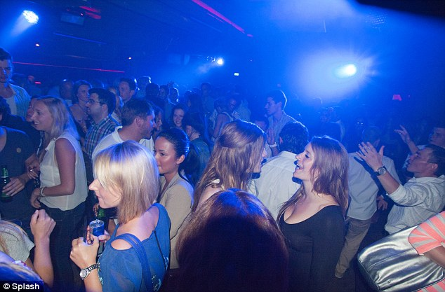 Full house: The dance floor was packed for Connor's DJ set in Dusseldorf tonight