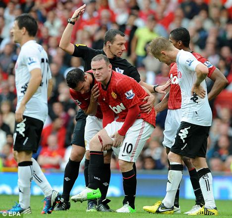 Wounded: Wayne Rooney