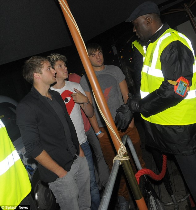 Who are you? The night wasn't drama-free, as Niall was originally refused entry into the club because the bouncer didn't recognise him