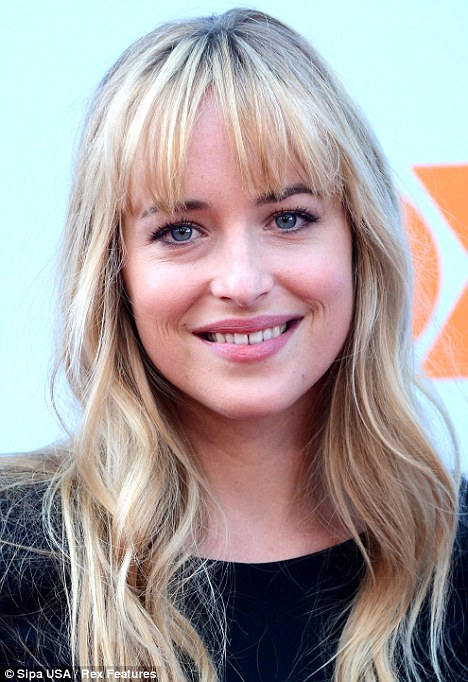 Such a pretty face: Dakota Johnson was luminous at the Q&A for her new show in LA today