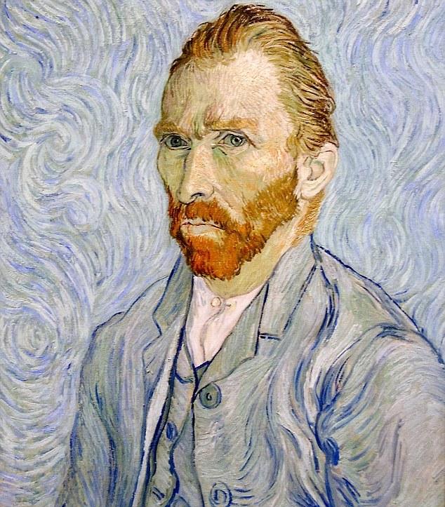 Van Gogh's self portrait, seen originally here...