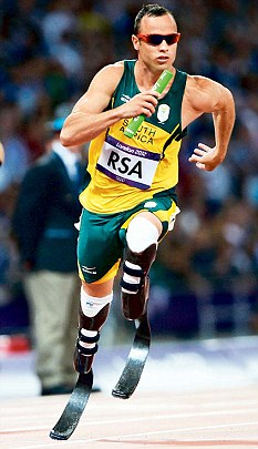 Oscar Pistorius is a multiple world record holder on the track
