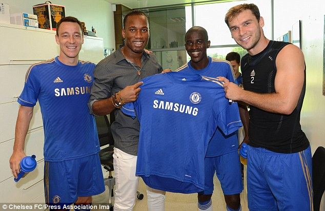 Look who's back: Drogba met up with his former team-mates sparking reports of a return to Chelsea