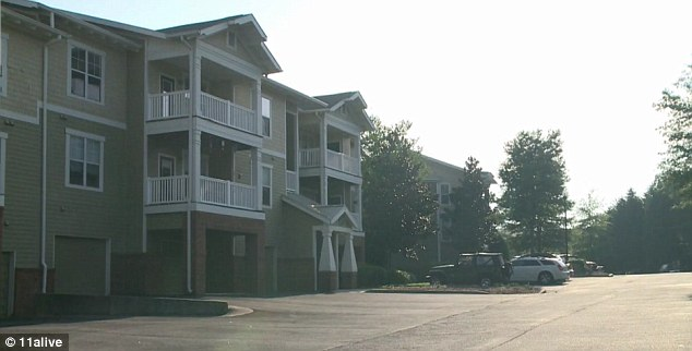 Sighting: The 16-year-old was last seen sitting at picnic tables near the Lake Lanier Club Apartments, pictured, where she lived with her mother