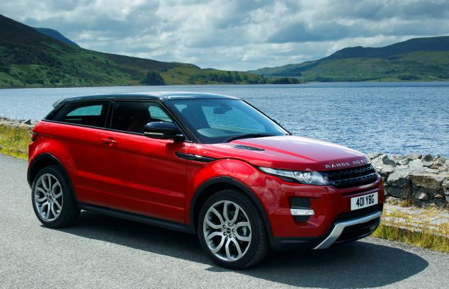 Range Rover Evoque came in sixth whilst luxury brands such as Aston Martin and Rolls Royce were completely left out