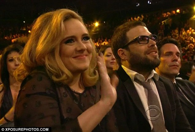 Denied: Adele has taken to her Twitter page to confirm that she has not married her fiancé Simon Konecki