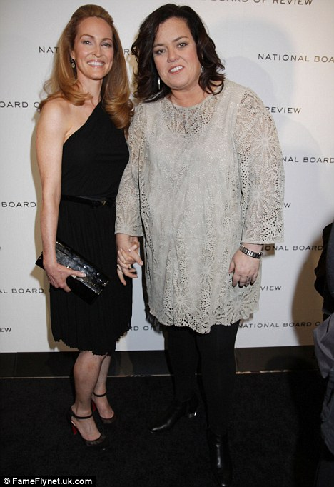 Revelation: Michelle Rounds pictured with Rosie O'Donnell earlier this year, is reported to have signed a prenuptial agreement before marrying in June