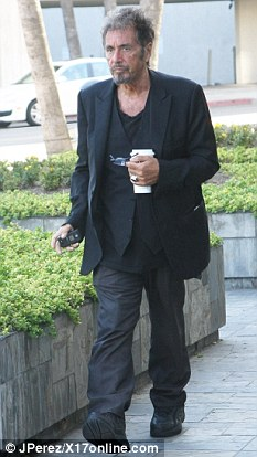 He's still go it! Pacino still has an enviable head of salt-and-pepper hair for his age