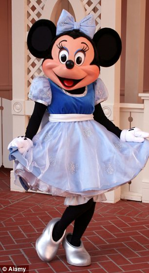 Minnie Mouse at Disneyland California