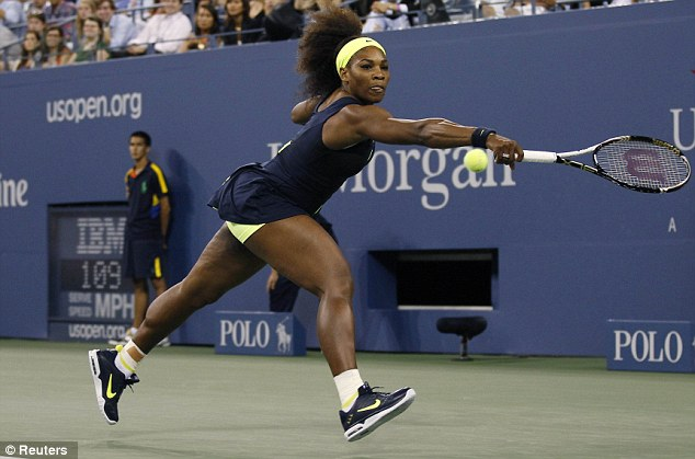 Nike and easy: Williams dropped just two games as she romped into the second round