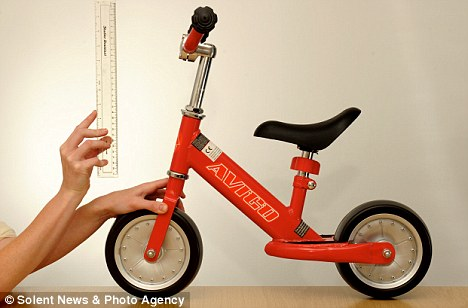 A little balance bike
