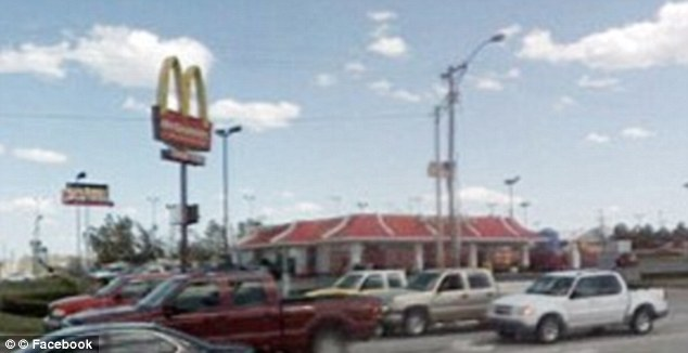 Suspicious: Jaymie Adams, 25, told her husband of one year she was going to meet a 'friend' at this McDonalds, where police later found her van