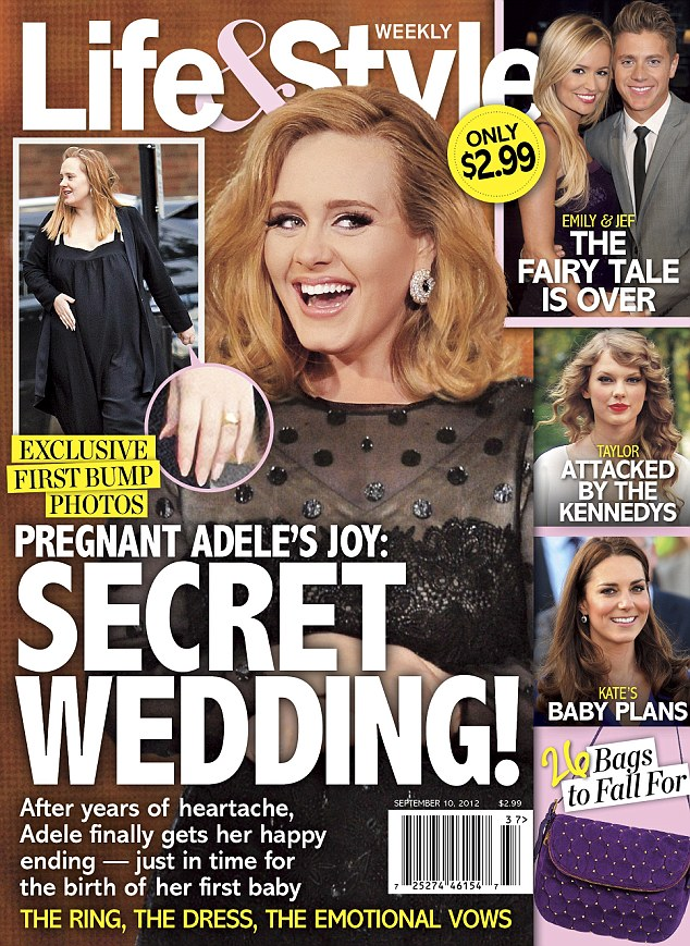The pictures of Adele can be seen in Life & Style magazine which is out now