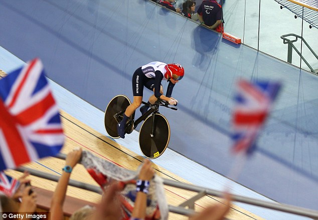The crowd went wild when they realised that Storey was on her way to win gold