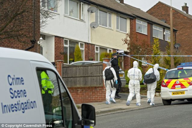 Scene of the crime: Police were called to the family home (pictured) in Bury, Manchester where Chloe was found dead in February 2011