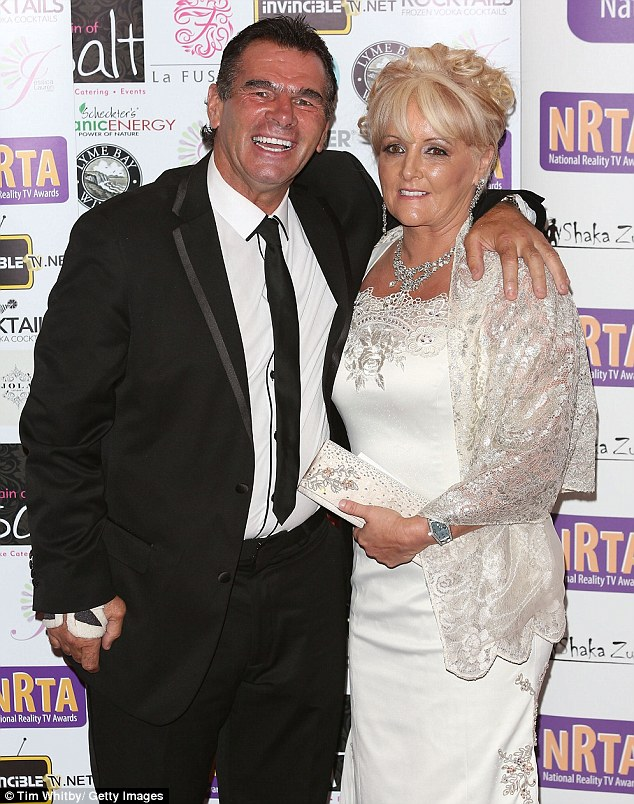 Me and my woman! Paddy Doherty arrived wearing a suit with his wife Roseanne on his arm