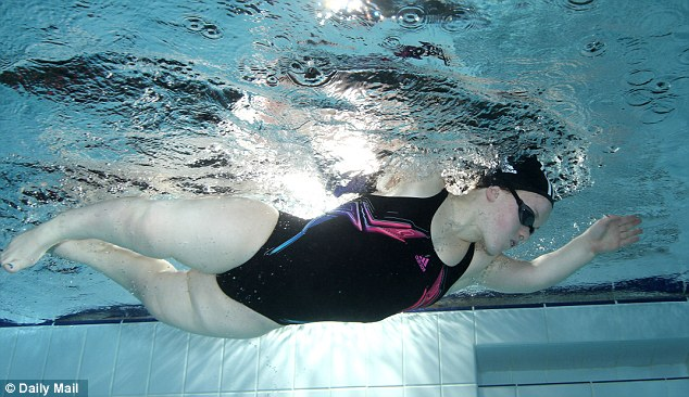 World-beater: Ellie Simmonds, who has dwarfism, won golds in the 100m and 400m freestyle in Beijing