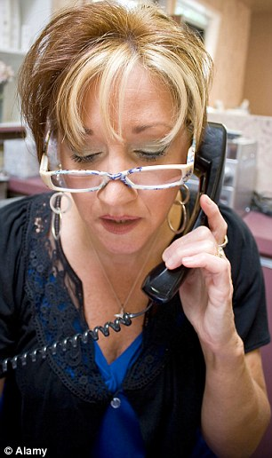 GPs' receptionists: They are frequently jobsworths - or worse, gorgons (posed by model)