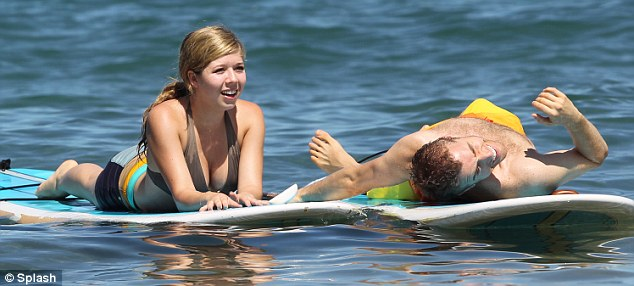 Company: Jennette was joined by a handsome male companion
