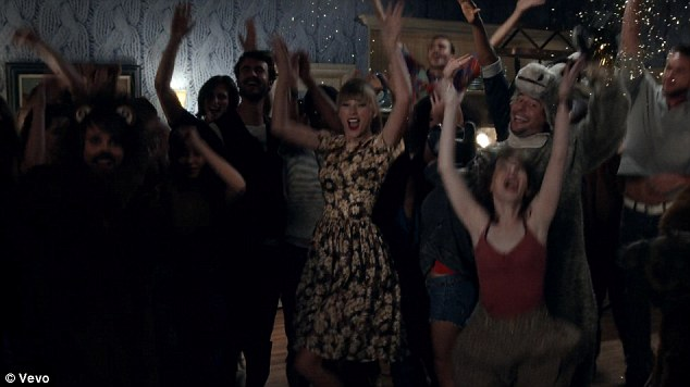 Letting loose: The country darling enjoys an impromptu dance party