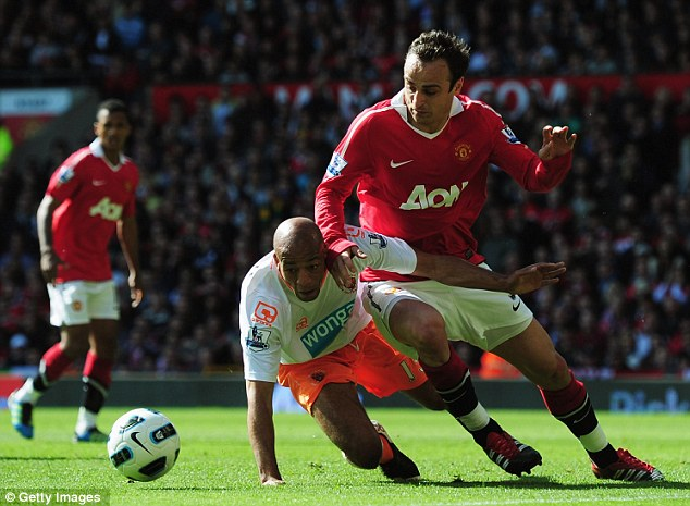 Forgotten man: Berbatov featured only intermittently for Manchester United last season