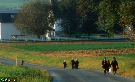 Refusal: After refusing Mullet's sexual advances, the woman testifying said that she moved her family out of the Amish settlement and to Pennsylvania (Lancaster County pictured)