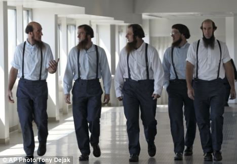 Drama: The case has drawn national attention to life in the Amish community