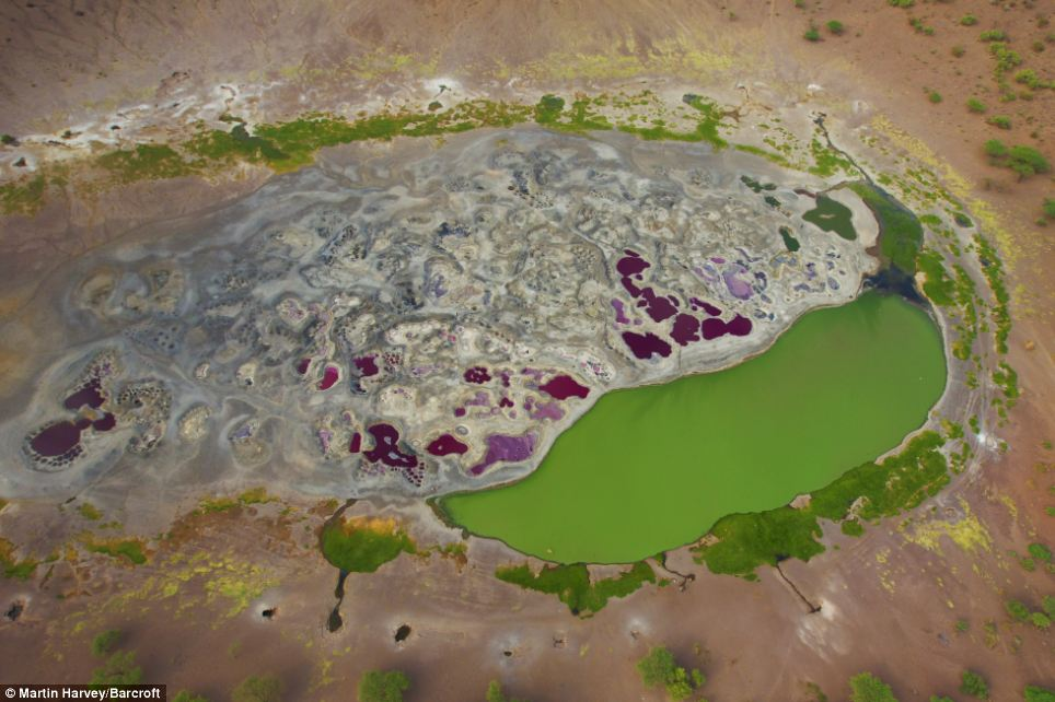 Bird's eye view: The Magado Crater is located at the north east tip of the Nyambeni mountain range in Kenya