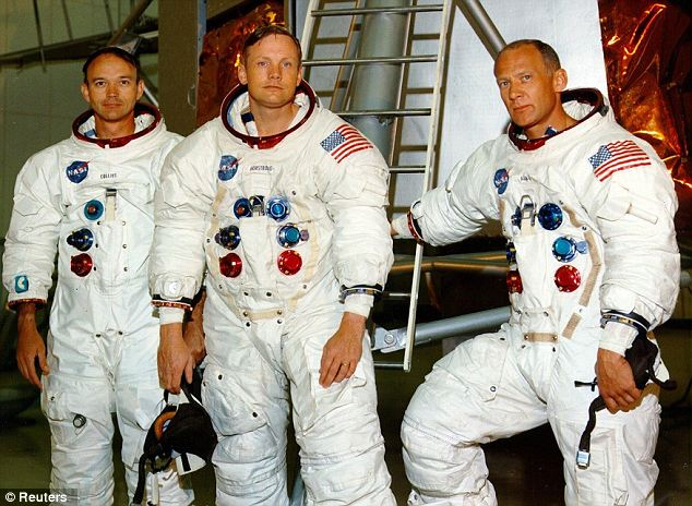 Fly me to the moon: Apollo 11 astronauts Michael Collins, Neil Armstrong, and Edwin Buzz Aldrin
