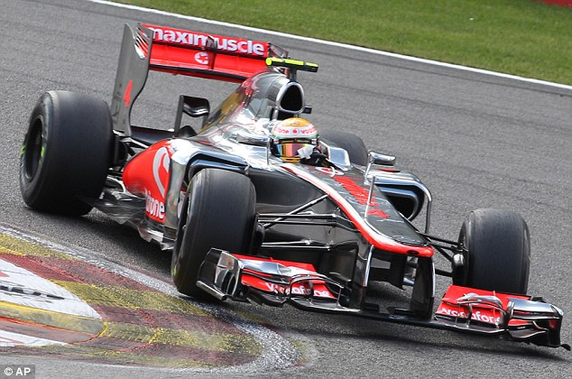 Work to do: Button's team-mate Lewis Hamilton will start from seventh on the grid in Belgium