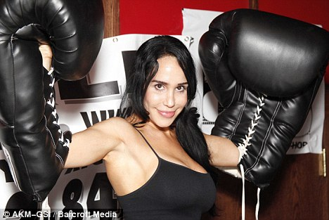 Gloves off: Octomom Nadya Suleman's boxing career is over