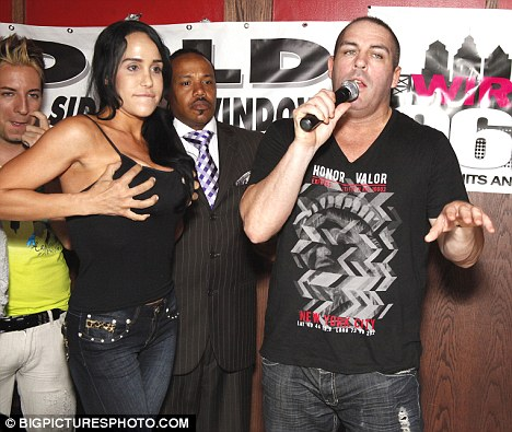 Suleman pictured with CelBanned: Suleman pictured with Celebrity Boxing promoter Damon Feldman