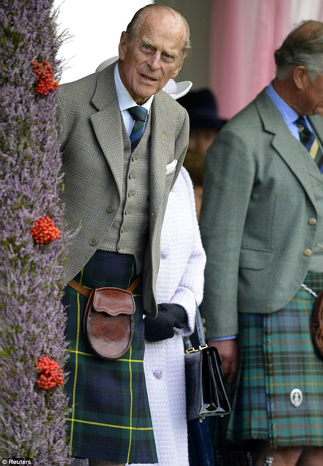 Venturing out: Prince Philip recently spent five nights in hospital receiving treatment for a recurrence of a bladder infection