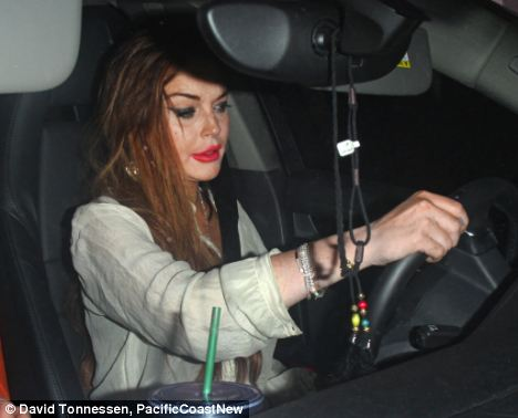 Driven out: Lindsay Lohan was informed of her eviction Chateau Marmont by letter following a dispute over an unpaid £29,000 bill