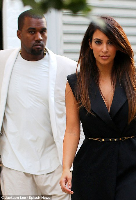 Philosophical: Kanye, who just debuted an ode to girlfriend Kim Kardashian called Perfect B***h' took to Twitter after being questioned by a fan over the use of the word 'b***h' in his music