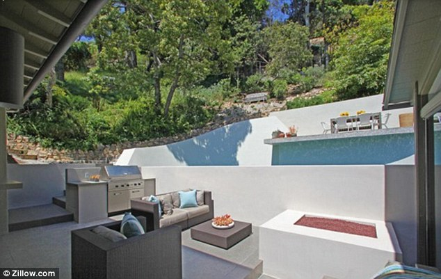 A lot of fun: There was plenty of equipment for entertaining in the Hollywood Hills property's grounds