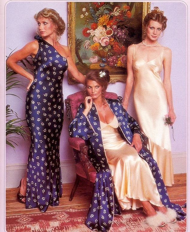 The 70s look is much more demure than the barely-there rhinestone encrusted underwear of today