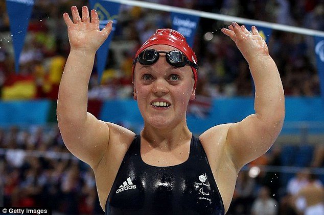 Golden girl: Simmonds broke the 200m medley world record twice in one day