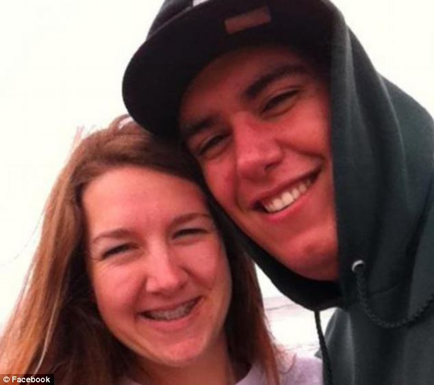Tragic: Philip Dhanens, pictured with his girlfriend Zoe, has died after an apparent heavy night of drinking during a fraternity pledge event. He had been at university for just two weeks
