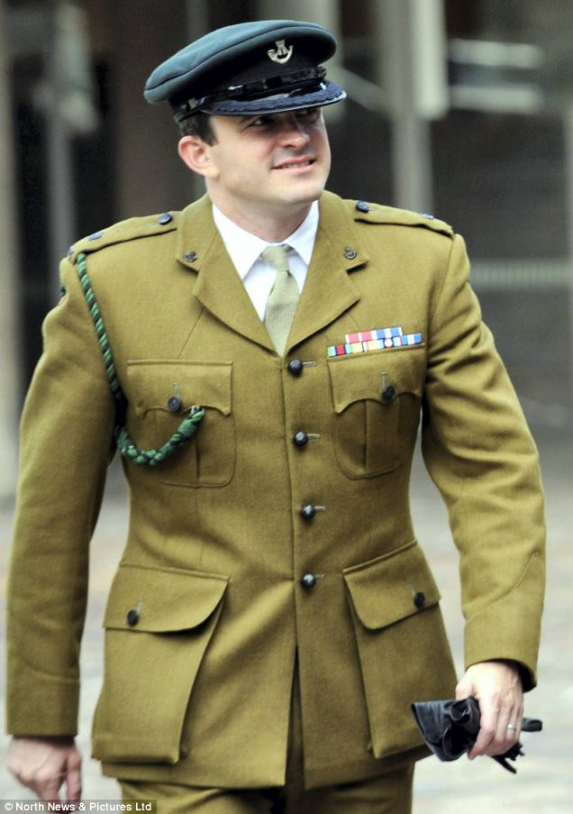 Major Timothy Harris also gave evidence at the inquest