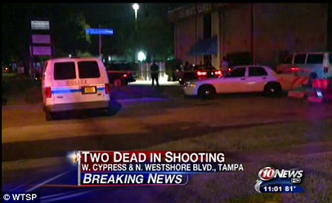 Violent end: Police are treating the investigation as a murder-suicide